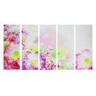 """Модульная картина на подрамнике """"Тайские цветы"""", 5 — 30×80 см"""