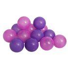 Шарики для сухого бассейна с рисунком, диаметр шара 7,5 см, набор 30 штук, цвет сливовый
