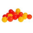 Шарики для сухого бассейна с рисунком, диаметр шара 7,5 см, набор 60 штук, цвет оранжевый, красный, жёлтый