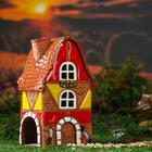 Аромалампа Домик «Гнутая крыша», широкая, 14 см, ручная работа, микс