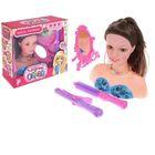 """Кукла-манекен для создания причёсок """"Парикмахер"""" с аксессуарами, БОНУС - наклейки, книга по созданию макияжа"""
