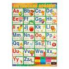 """Плакат """"Английский алфавит"""" 490х690мм"""