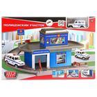 Гараж-паркинг «Полицейскийучасток», 1 металлическая машинка 7,5см