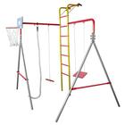 Детский спортивный комплекс «Весёлые старты-1», серый/ красный/ жёлтый