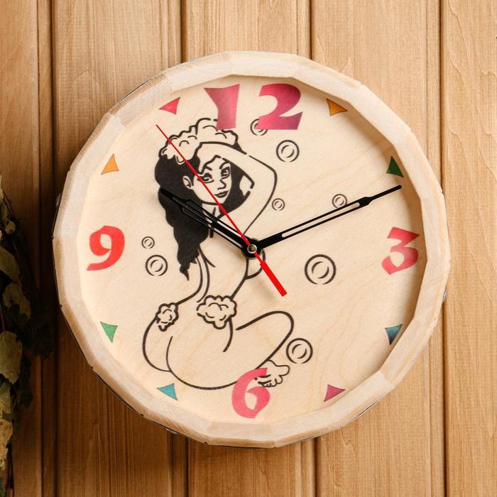 Часы банные бочонок «Девушка»