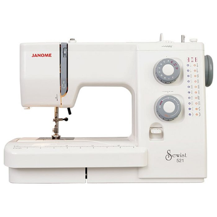 Швейная машина Janome SE 518, 21 операций, обметочная, потайная, эластичная строчка, белый