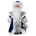 """Дед Мороз """"Шик"""", в бело-синей шубе, со свечой, русская мелодия"""