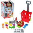 """Игровой набор """"Магазин"""" с продуктовой тележкой, 27 предметов, световые и звуковые эффектами, высота 47 см"""