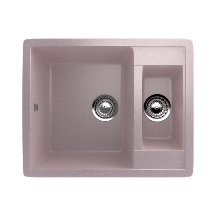 Мойка кухонная Ulgran U106-315, 600х485 мм, цвет розовый