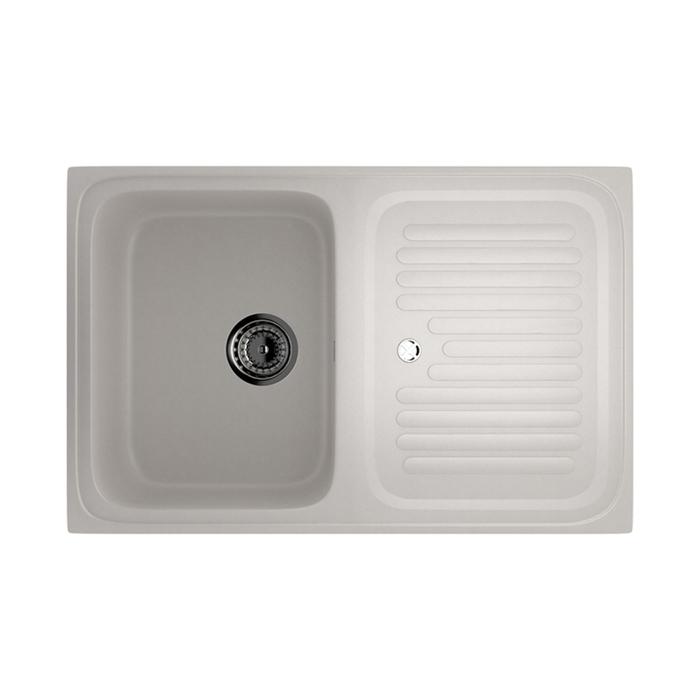 Мойка кухонная Ulgran U502-331, 760х500 мм, цвет белый