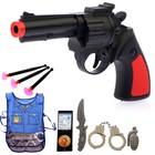 Набор игровой «Полицейский», 8 предметов, БОНУС - жилет и книжка-раскраска