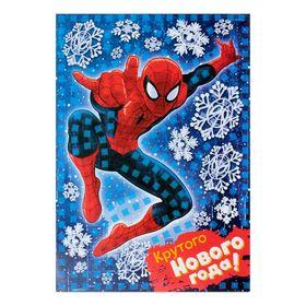 """Аппликация стикерная """"Крутого Нового года"""", Человек-паук"""