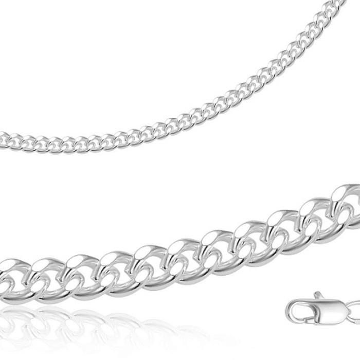 Браслет Панцирное плетение посеребрение с оксидированием, МПГ12-19с