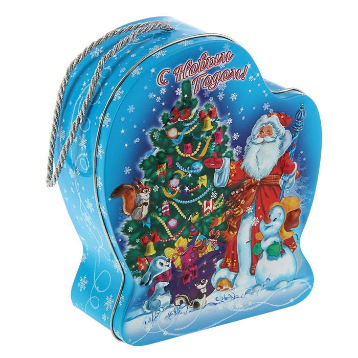Подарочная коробка Дед Мороз и внучка, рукавичка, 15.8 х 18.8 х 6.5 см