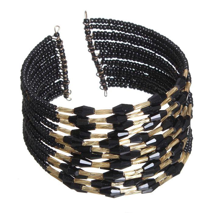 Браслет из бисера Нефертити, цвет чёрный