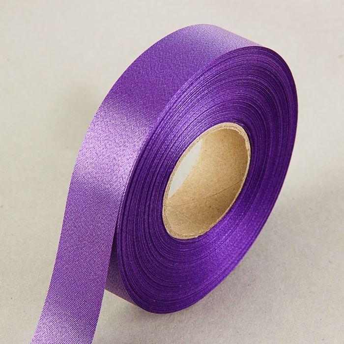 Лента для декора и подарков, фиолетовая, 2 см х 45 м