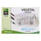 Калька для художественных работ, А3, 297 х 420 мм, Fabriano Vegetal, 12 листов, 90 г/м², конверт