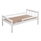 Детская кроватка «Стандарт» из массива, с бортиком, цвет белый