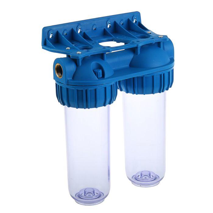 Корпус для фильтра Нептун BP-10D, прозрачный, двойной, 1