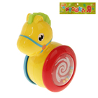 Игрушка для малышей каталка-погремушка-неваляшка «Лошадка»