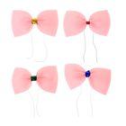 Бабочка карнавальная маленькая, розовый неон, на резинке МИКС