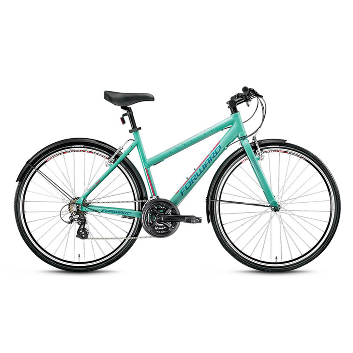 Велосипед 28 Forward Corsica 1.0, 2016, цвет зелёный, размер 490 мм