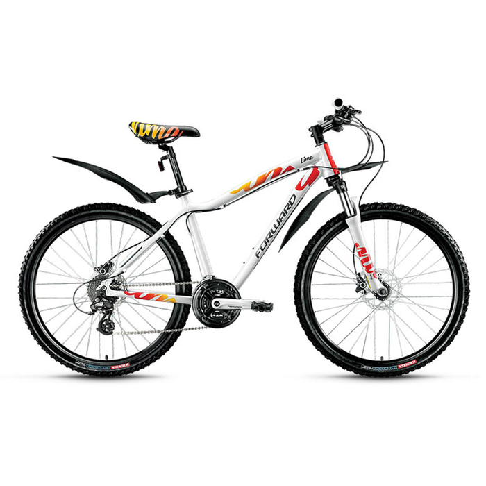 Велосипед 26 Forward Lima 3.0 disc, 2016, цвет белый, размер 15