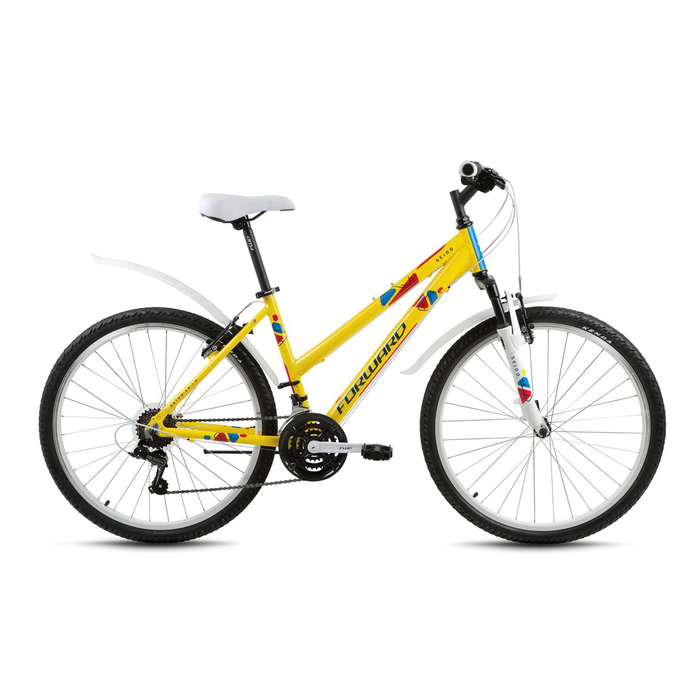 Велосипед 26 Forward Seido 26 1.0, 2017, цвет жёлтый, размер 15