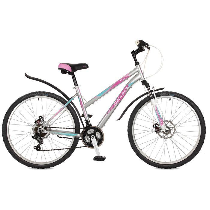 Велосипед 26 Stinger Latina D, 2017, цвет серый, размер 15