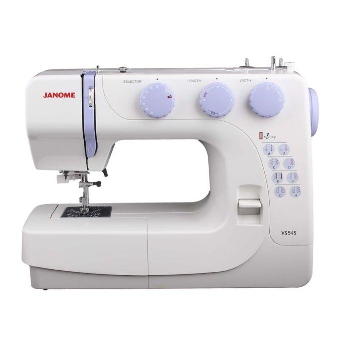 Швейная машина Janome VS54S, 17 операций, обметочная, потайная, эластичная строчка, белый