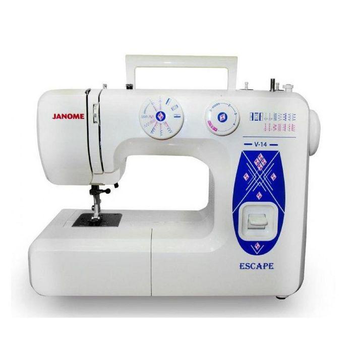 Швейная машина Janome Escape V-14, 16 операций, обметочная, потайная, эластичная строчка