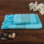 Комплект махровых полотенец в коробке Fidan Classik 50х90, 70х130 см, бирюза