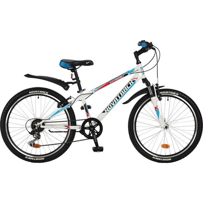 Велосипед 24 Novatrack Extreme, 2017, 6ск., цвет белый, размер 10