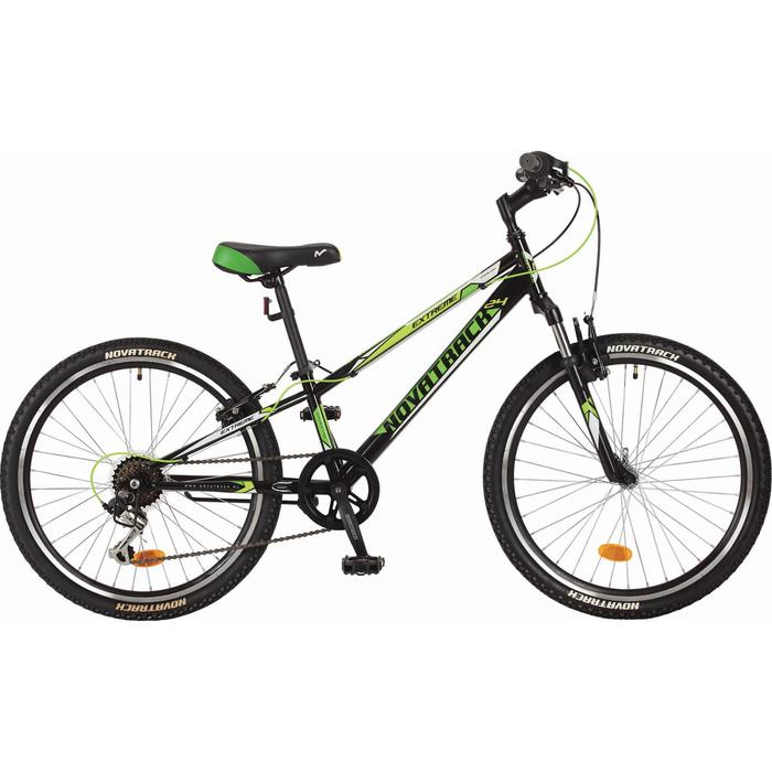 Велосипед 24 Novatrack Extreme, 2017, 6ск., цвет черный, размер 12
