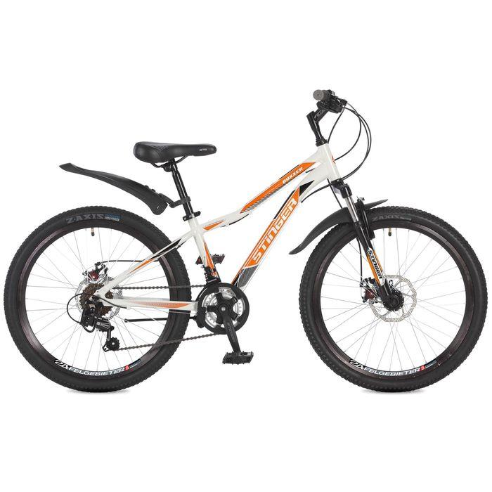 Велосипед 24 Stinger Boxxer D, 2017, цвет белый, размер 12,5