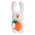 """Мягкая игрушка """"Зайка с морковкой"""", цвет белый, 38 см"""