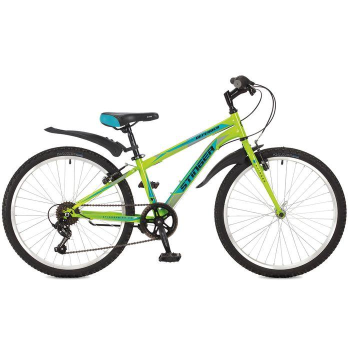 Велосипед 24 Stinger Defender, 2017, цвет зелёный, размер 14