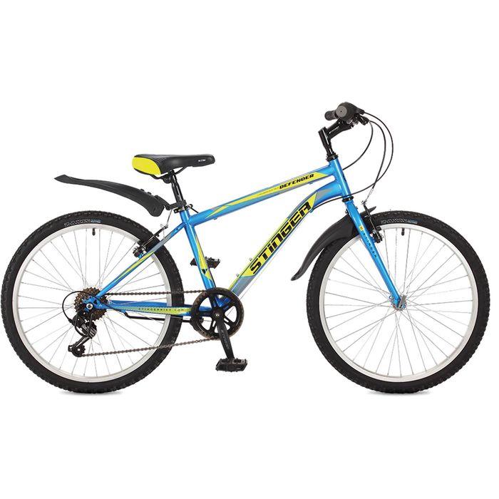 Велосипед 24 Stinger Defender, 2017, цвет синий, размер 14