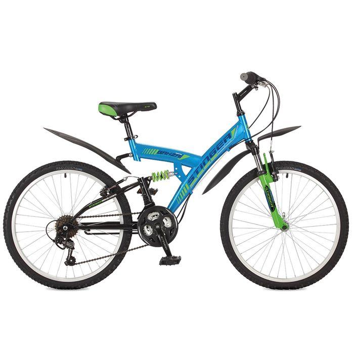 Велосипед 24 Stinger Banzai, 2017, цвет синий, размер 14