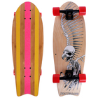 Скейтборд ОТ-911, 67х24,5 см, колёса PU d=6 см, ABEC 9, алюминиевая рама, цвет микс