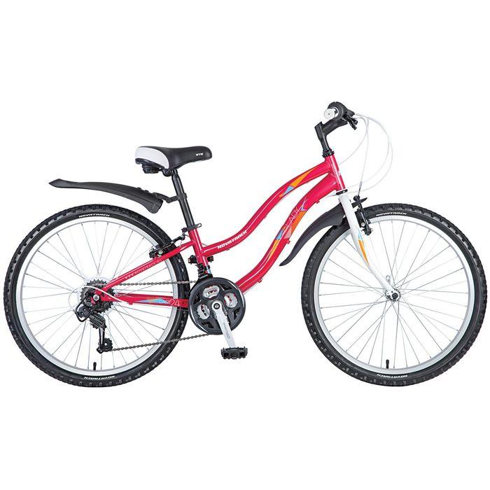 Велосипед 24 Novatrack Lady, 2017, цвет красный, размер 12