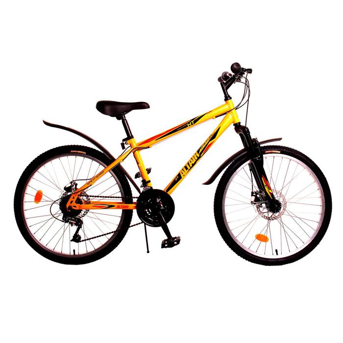 Велосипед 24 Altair MTB HT disc , 2017, цвет желтый, размер 14