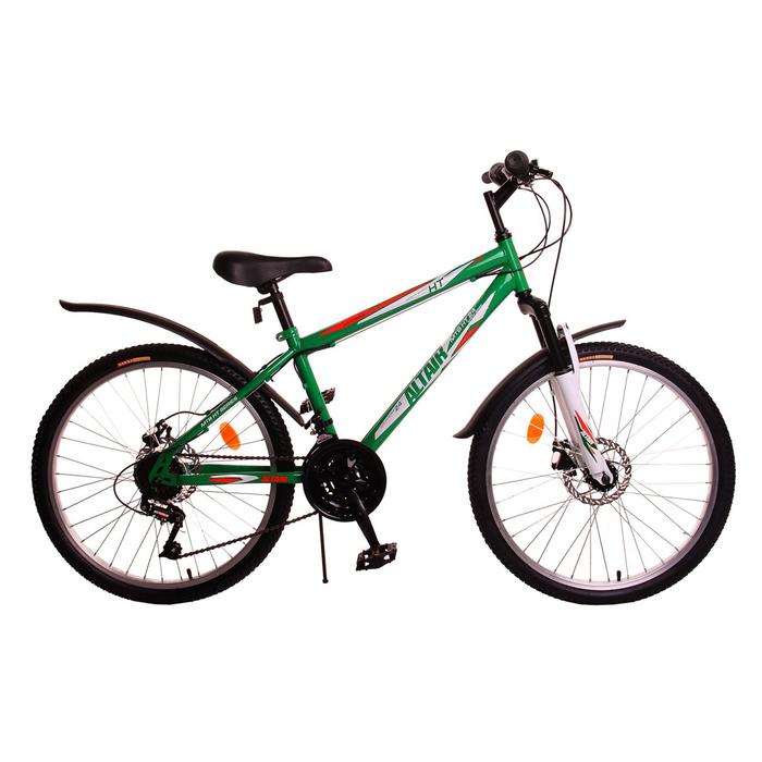 Велосипед 24 Altair MTB HT disc , 2017, цвет зеленый, размер 14