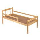 Детская кроватка «Стандарт» из массива, с бортиком, лакированная, спальное место 120х60 см
