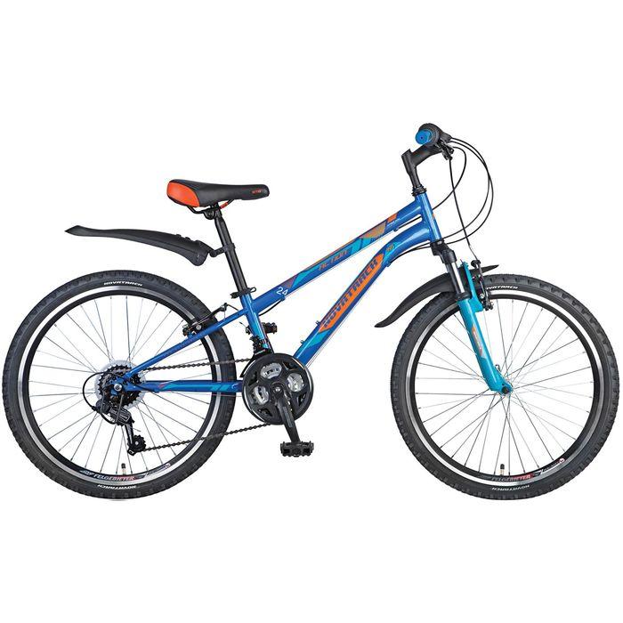 Велосипед 24 Novatrack Action, 2017, 18ск., цвет синий, размер 12