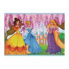 Альбом для рисования А4, 12 листов на скрепке «Три принцессы», обложка офсет 80 г/м2, блок офсет 100 г/м2