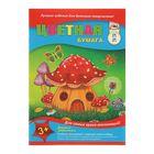 Бумага цветная А4, 24 листа, 24 цвета «Дом грибок», 50 г/м2