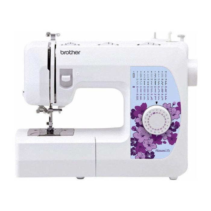 Швейная машина Brother Hanami 37s, 37 опер, обметочная, эластичная, потайная строчка, белый   239550