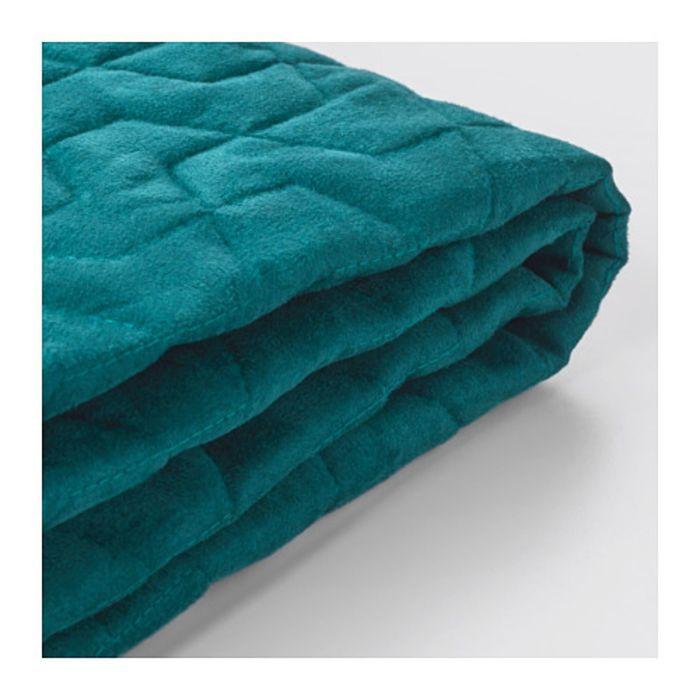 Чехол на двухместный диван-кровать, Валларум бирюзовый ЛИКСЕЛЕ