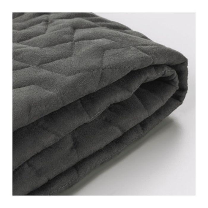 Чехол на двухместный диван-кровать, Валларум серый ЛИКСЕЛЕ